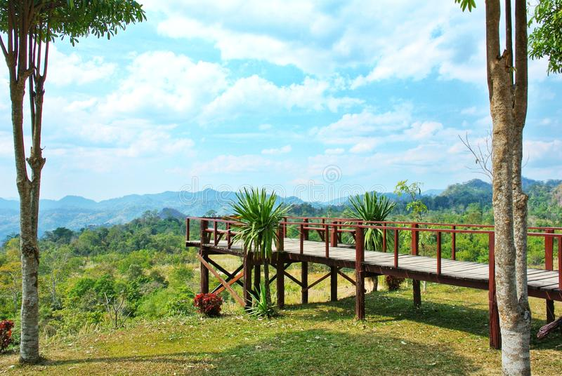 Noen Sawan Viewpoint, Srinakarin National Park, Kanchanaburi Province, Thailand royalty free stock images