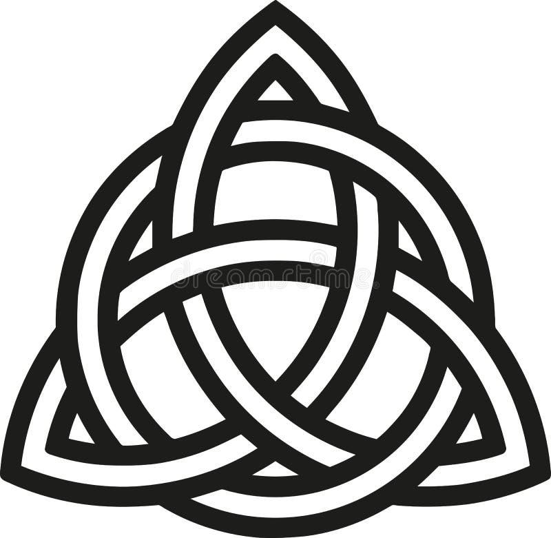 Noeud celtique avec des contours illustration stock