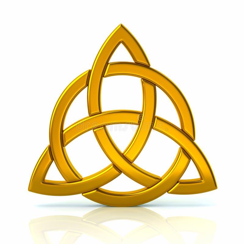 Noeud celtique de trinité illustration de vecteur