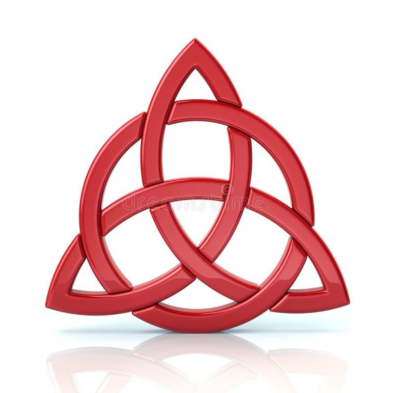 Noeud celtique rouge de trinité illustration libre de droits