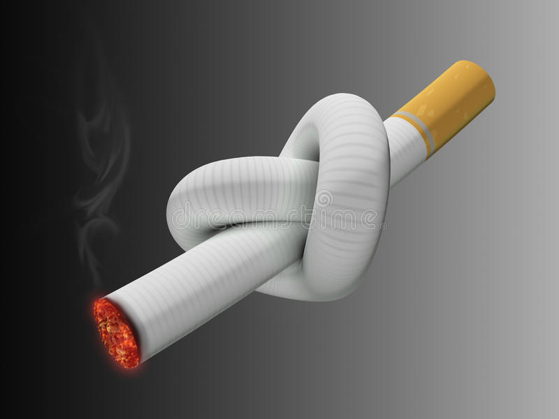 Noeud de cigarette illustration stock