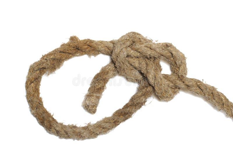 Noeud de corde d'isolement photo stock