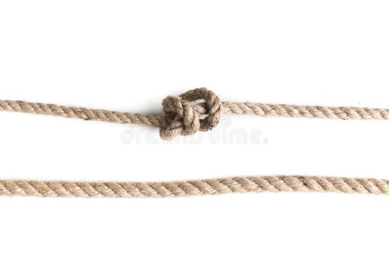Noeud de corde de jute photo libre de droits