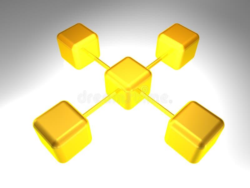 noeud de réseau 3D illustration stock