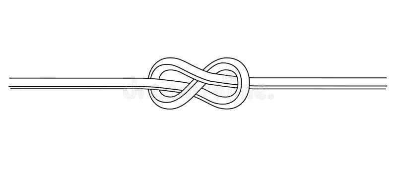 Noeud flamand de corde Illustration de vecteur illustration de vecteur