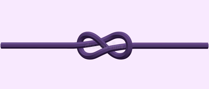 Noeud flamand de corde Illustration de vecteur illustration stock