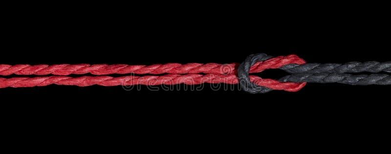 Noeud noir et rouge photographie stock