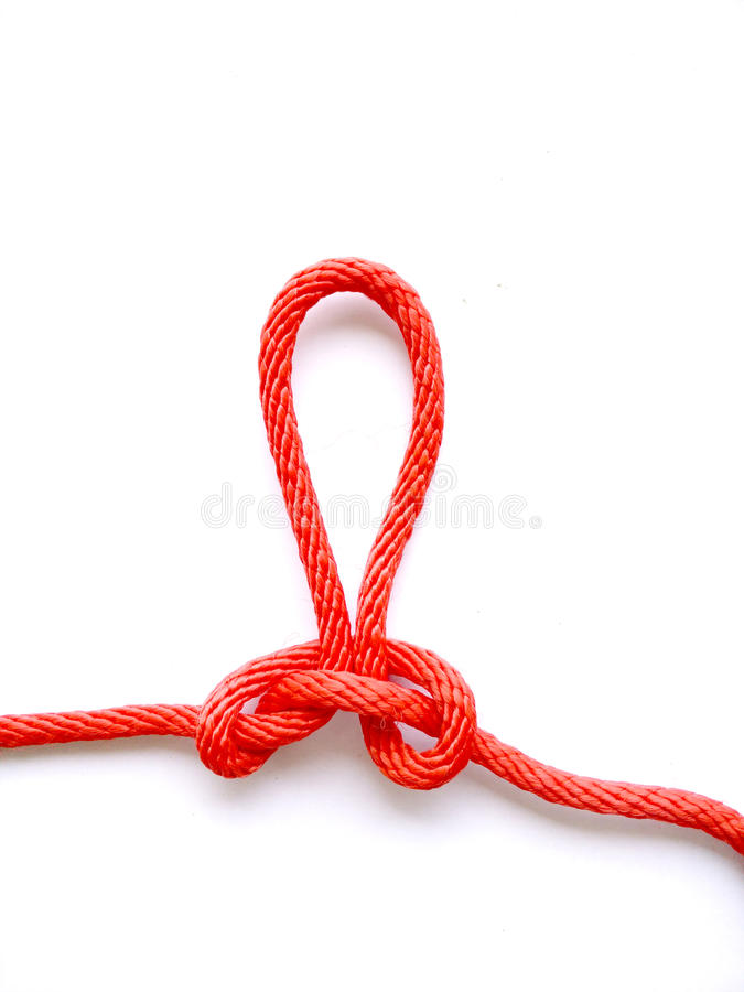 Noeud rouge image stock