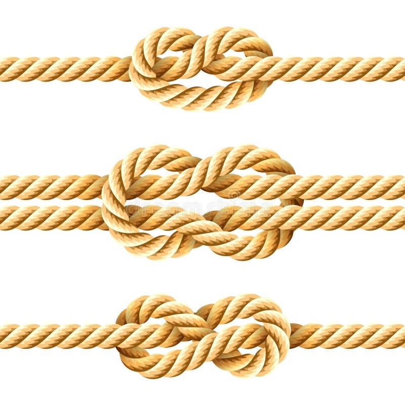 Noeuds de corde illustration libre de droits