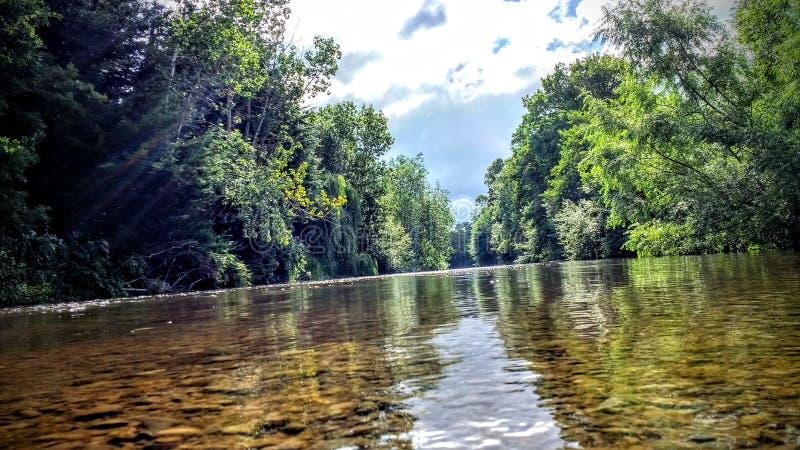 Nog rivier stock foto's