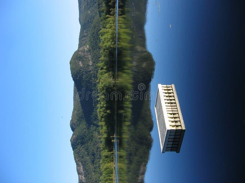 Nog water in Noorwegen stock afbeeldingen