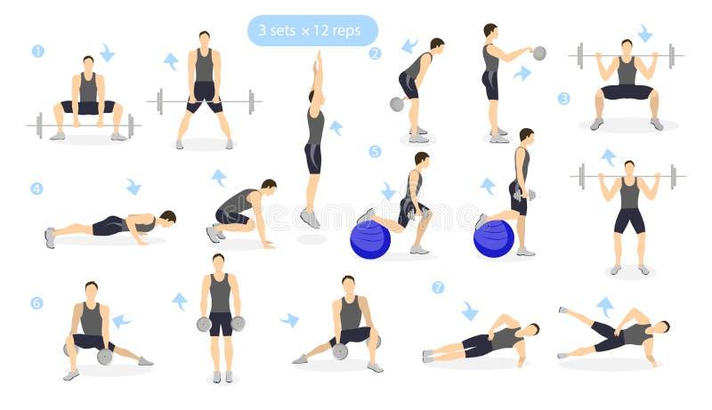Noga treningu set ilustracji