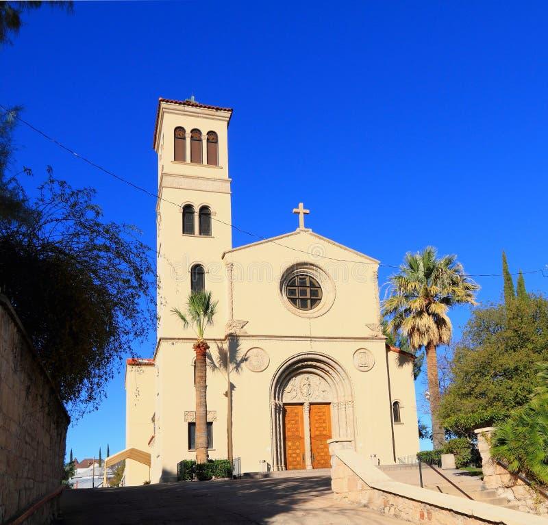 Nogales Arizona Sacred Heart Of Jesus Church Stock