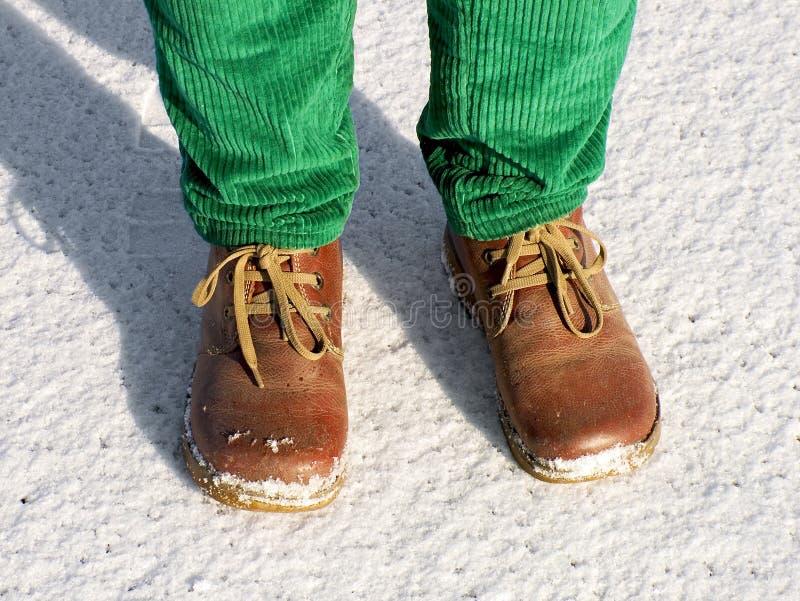 nogi śnieg obraz stock