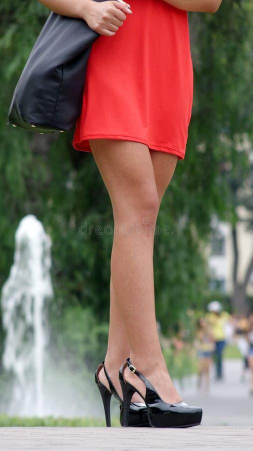 Nogi I talii Piękna kobieta zdjęcie stock