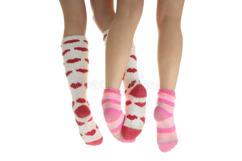 nogi kolorowa cztery skarpety zdjęcie royalty free
