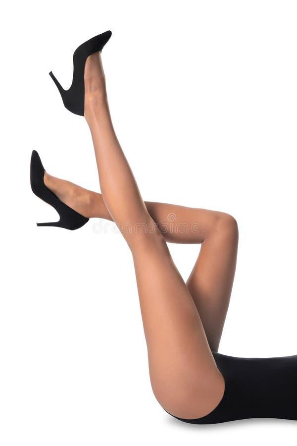 Nogi piękna młoda kobieta w rajstopy obraz royalty free