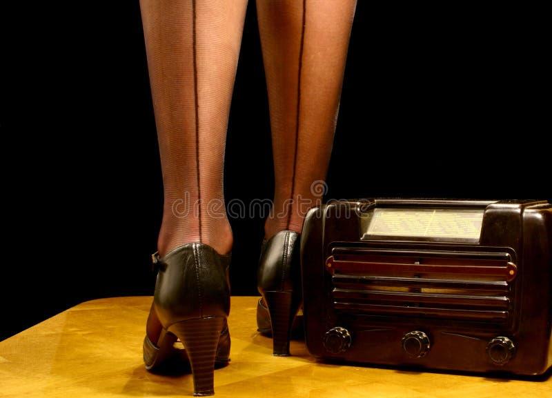nogi radiowego sexy retro zdjęcie stock