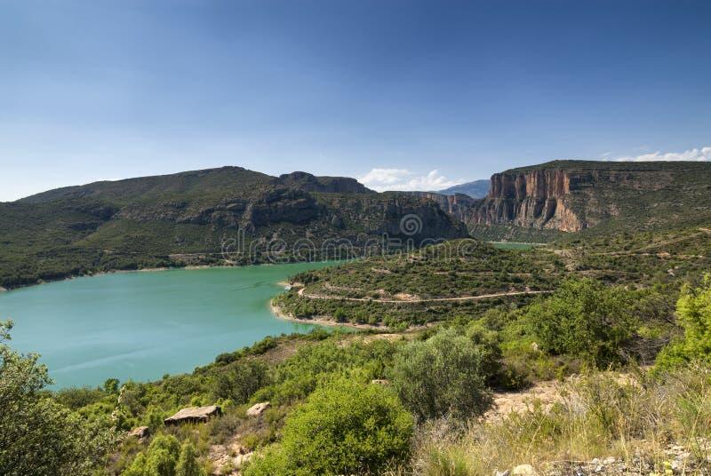 Noguera (Catalunya), river. Noguera (Catalunya, Spain): the river at summer royalty free stock image