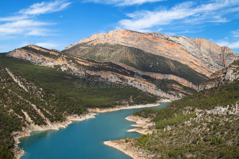 Noguera Ribagorzana et le Montsec images libres de droits