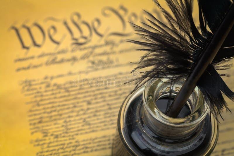 Noi la spoletta e l'inchiostro della gente fotografia stock libera da diritti