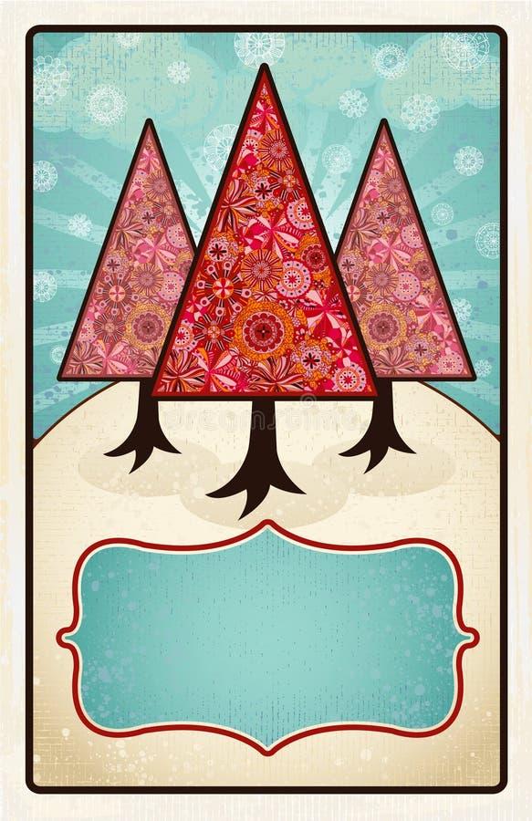 Noi tre alberi illustrazione vettoriale
