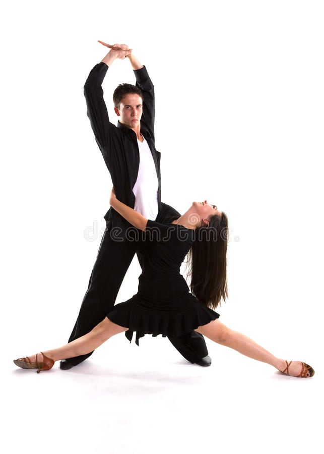 Noir 01 de danseurs de salle de bal photo stock