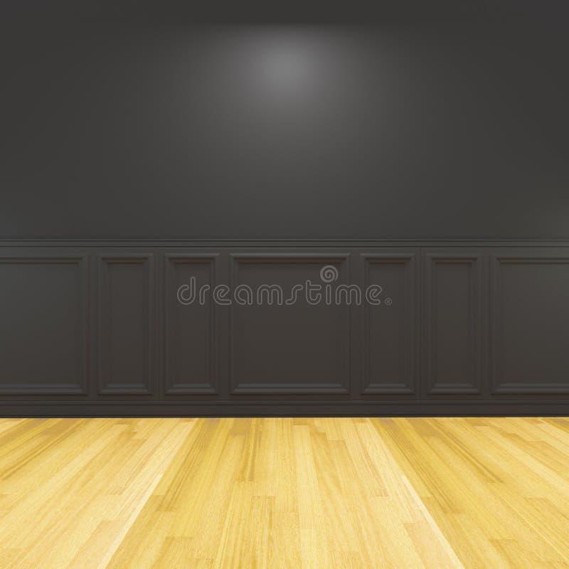 Noir animal vide décoré illustration de vecteur