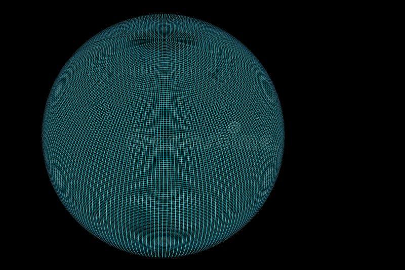Noir bleu de globe de fil plein illustration libre de droits