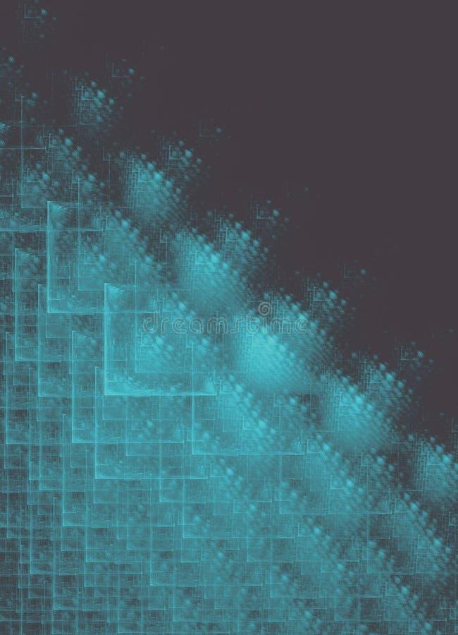 Noir bleu de grille de place de fractale illustration stock