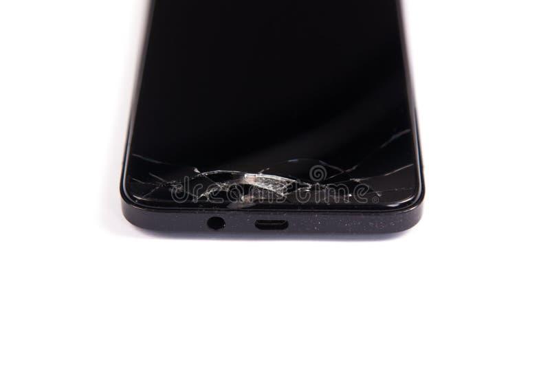 Noir Casse De Telephone Portable D Ecran D Isolement Sur A