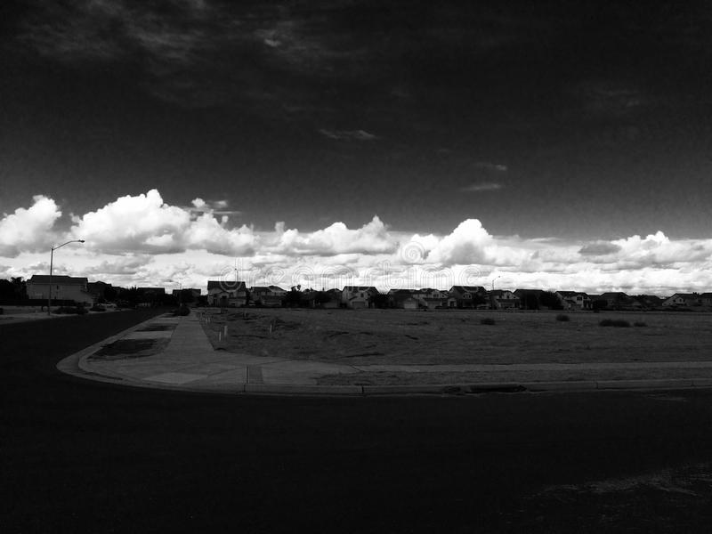 Noir clouds stock photography