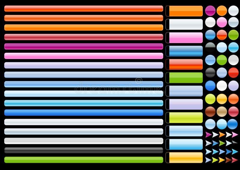 Noir d'éléments de Web illustration stock