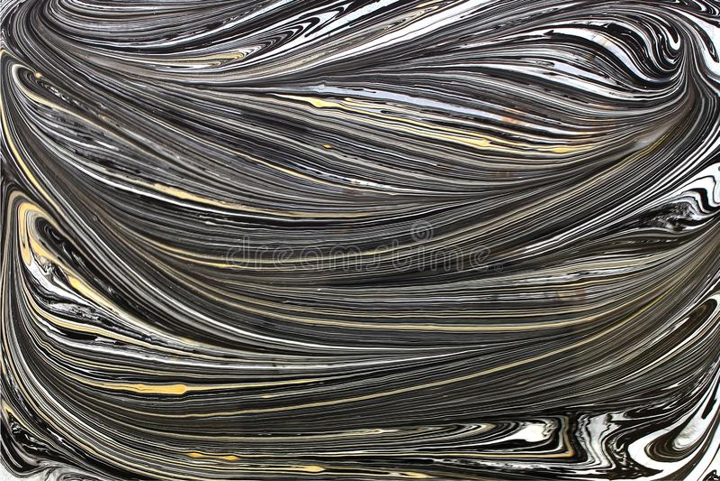 Or noir d'encre de modèle texture de fond de marbre d'abrégé sur et ton blanc photos stock