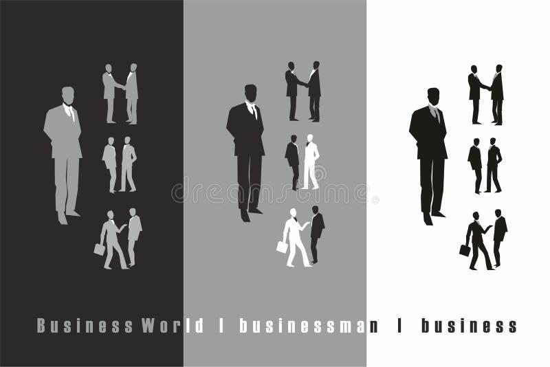 Noir d'homme d'affaires, gris, blanc photos stock