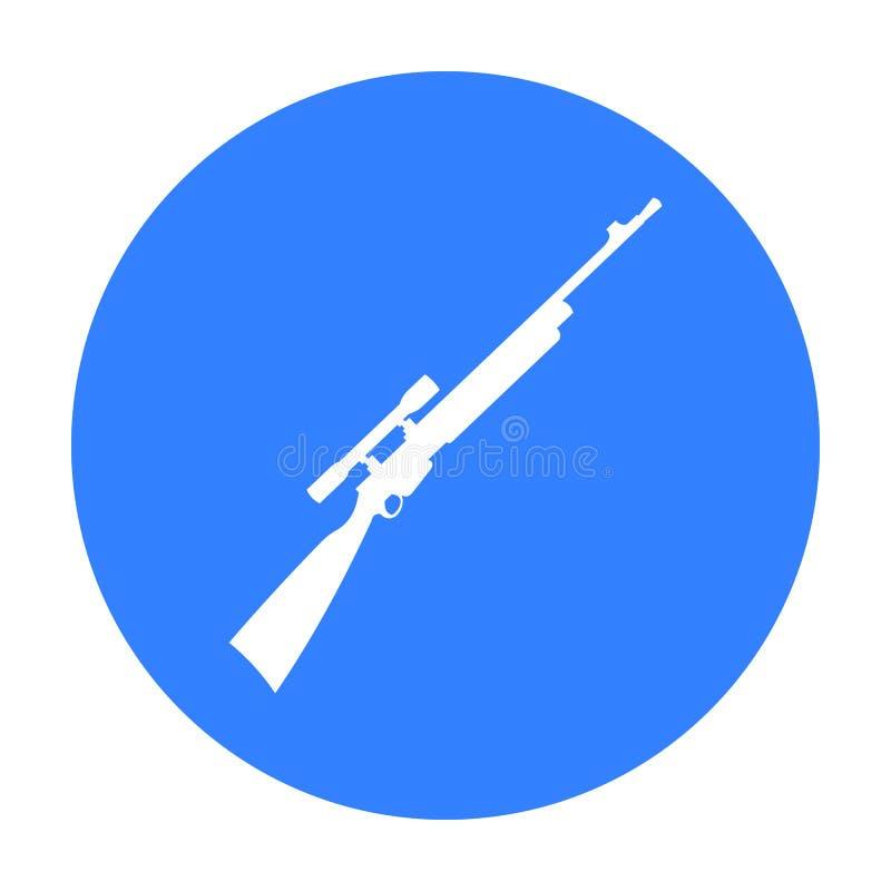Noir d'icône d'arme à feu de tireur isolé de fusil Icône simple d'arme des grandes munitions, bras réglés illustration stock