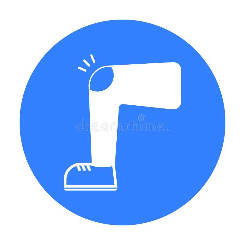 Noir d'icône de blessure au genou Choisissez l'icône en difficulté de la grande défectuosité, noir de la maladie illustration de vecteur