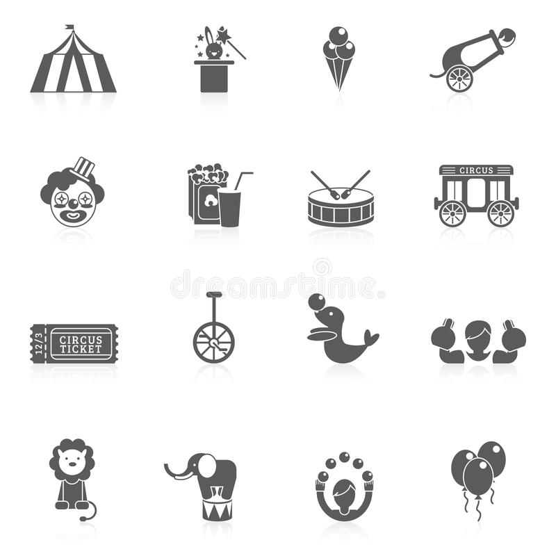 Noir d'icône de cirque illustration de vecteur