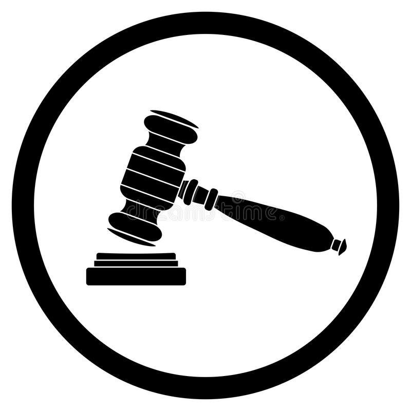Noir d'icône de Gavel images libres de droits