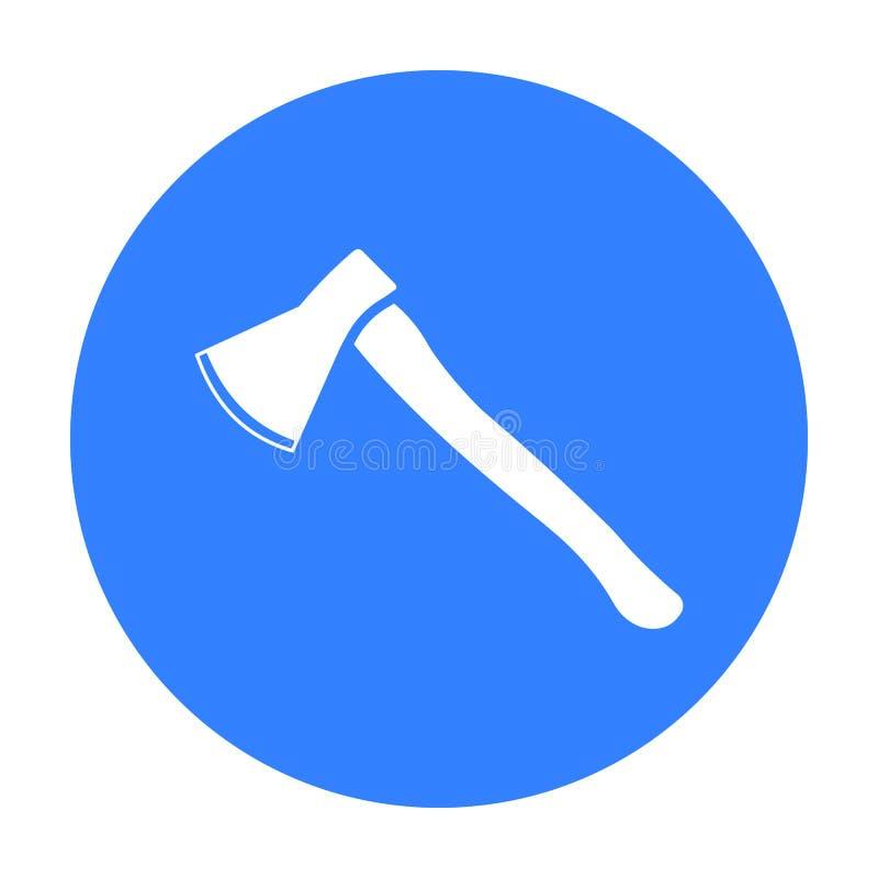 Noir d'icône de hache Icône simple d'arme des grandes munitions, bras réglés illustration de vecteur