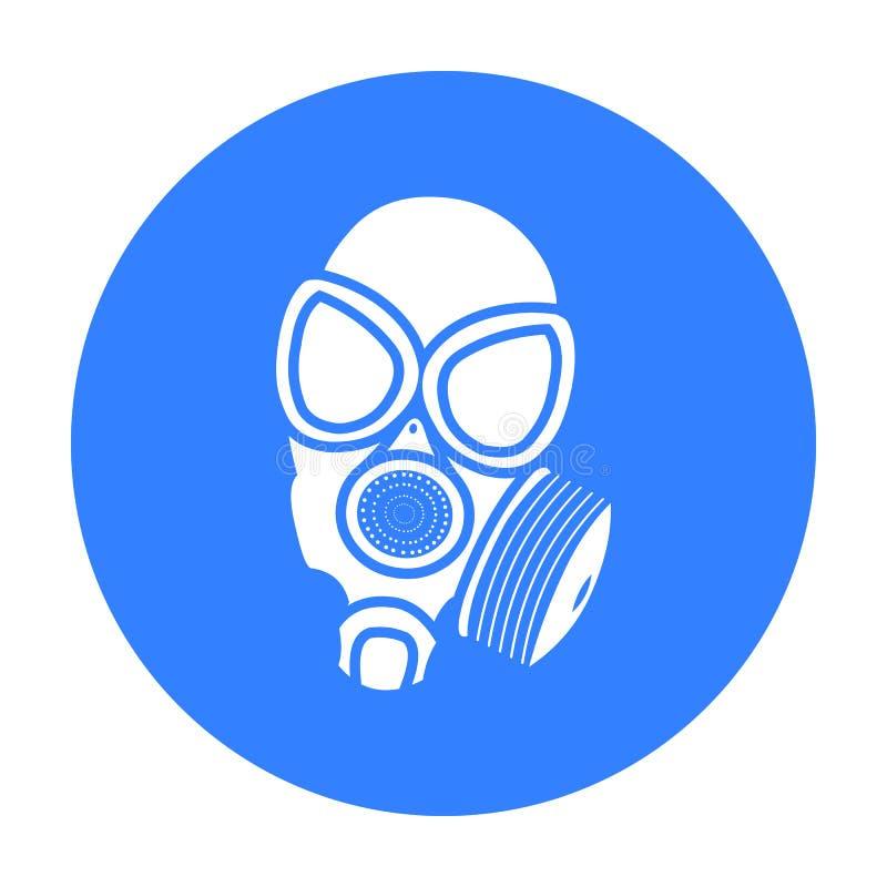 Noir d'icône de masques de gaz Icône simple d'arme des grandes munitions, bras réglés illustration stock
