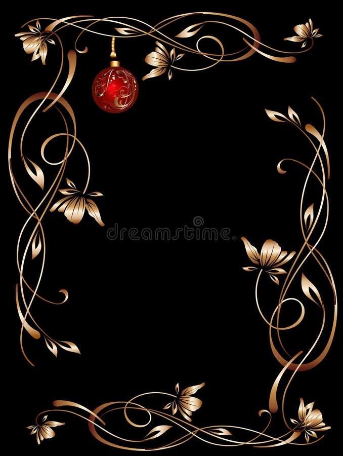 Noir de cadre de nuit de Noël illustration de vecteur