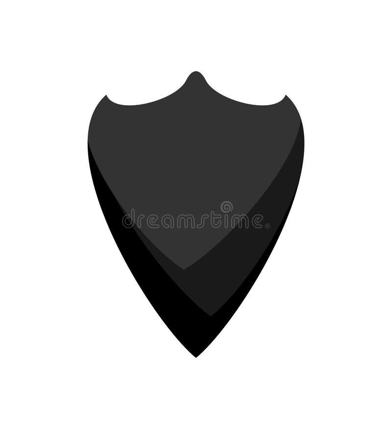 Noir de châle de cowboy d'isolement accessoire occidental Mouchoir occidental sauvage illustration stock