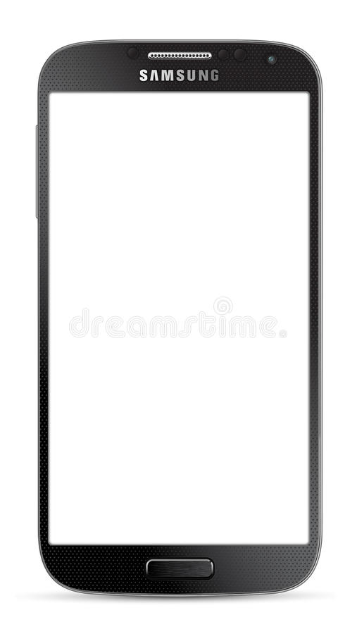 Noir de la galaxie S5 de Samsung illustration libre de droits