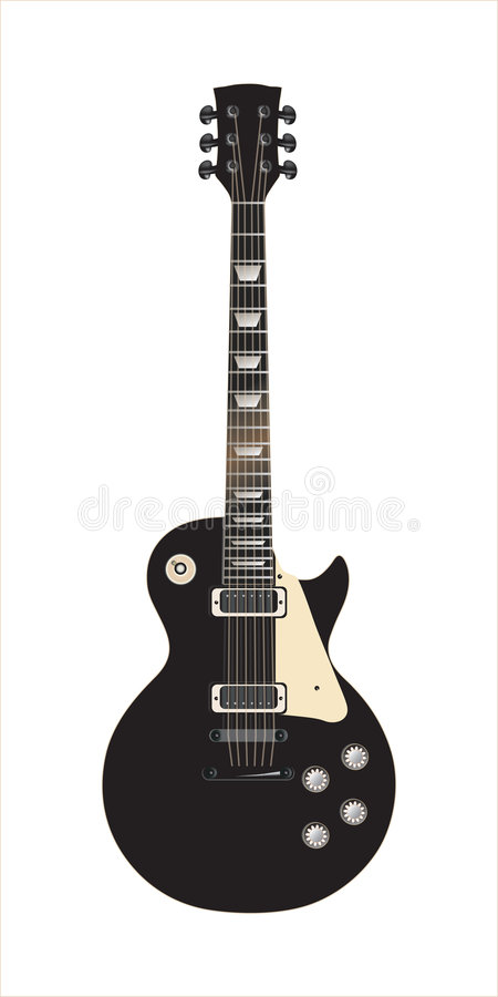 Noir de Les Paul de guitare illustration libre de droits