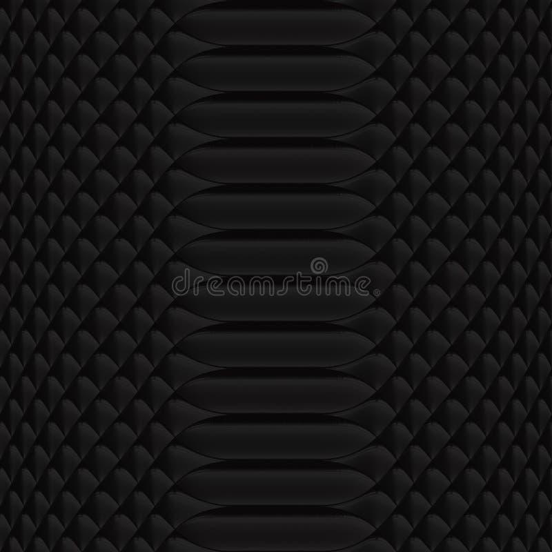 Noir de modèle de peau de serpent illustration de vecteur