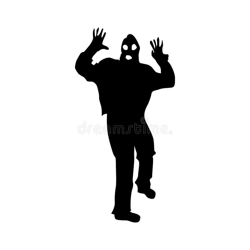 Noir de silhouette de voleur illustration libre de droits