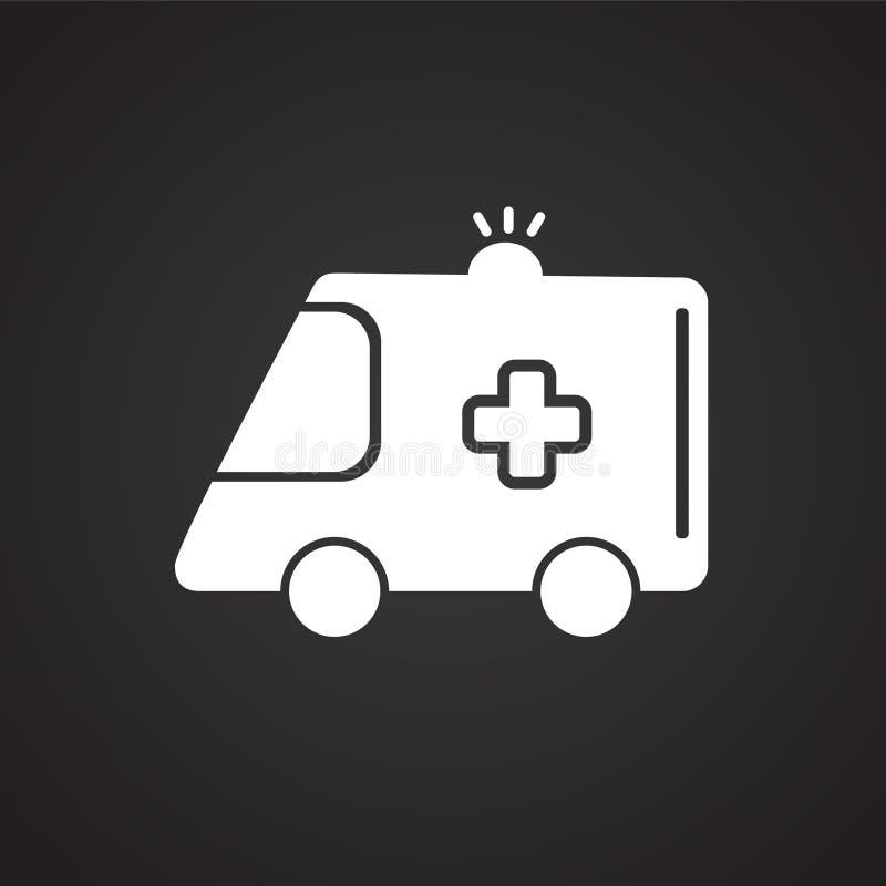 Noir de véhicule d'ambulance sur le fond illustration stock