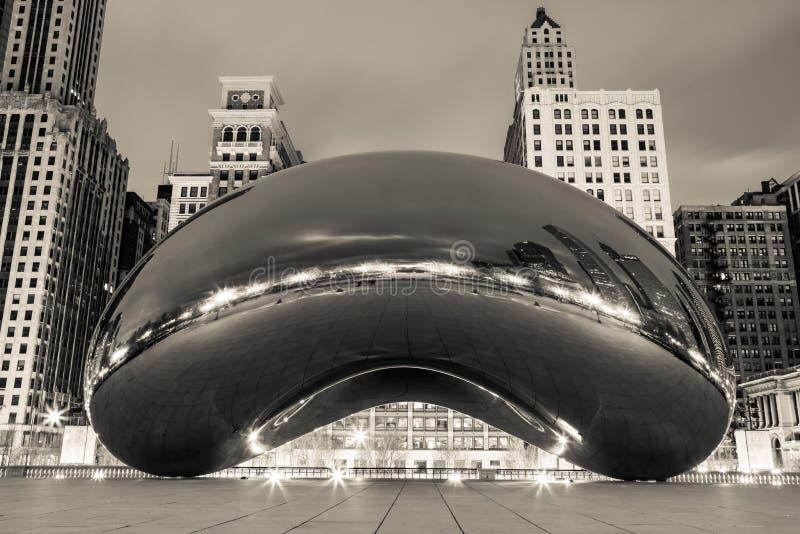 Noir del fagiolo del Chicago immagini stock libere da diritti