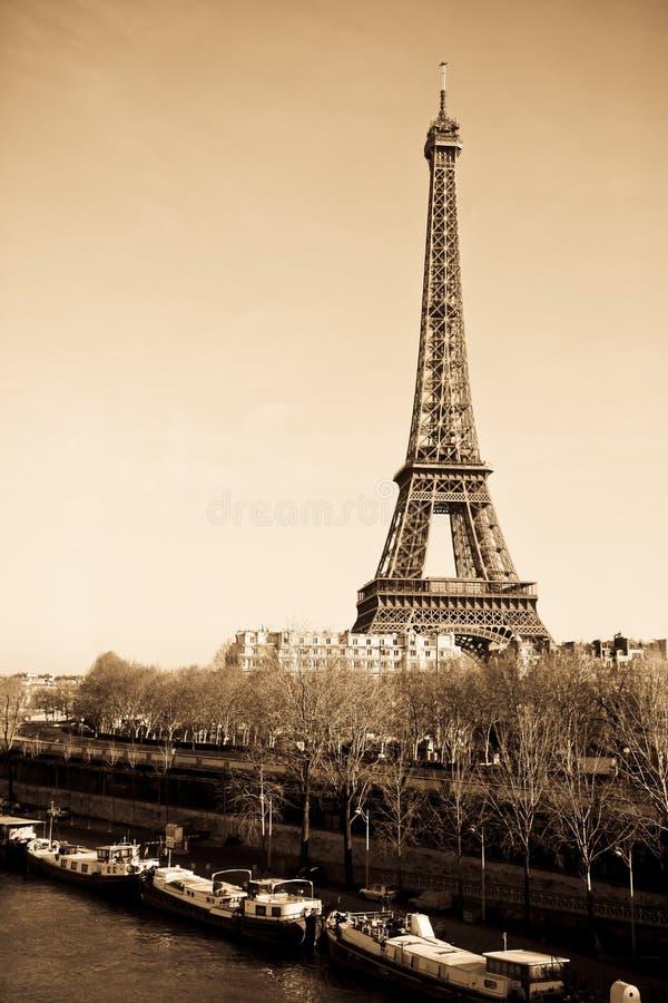Noir del horizonte de París foto de archivo